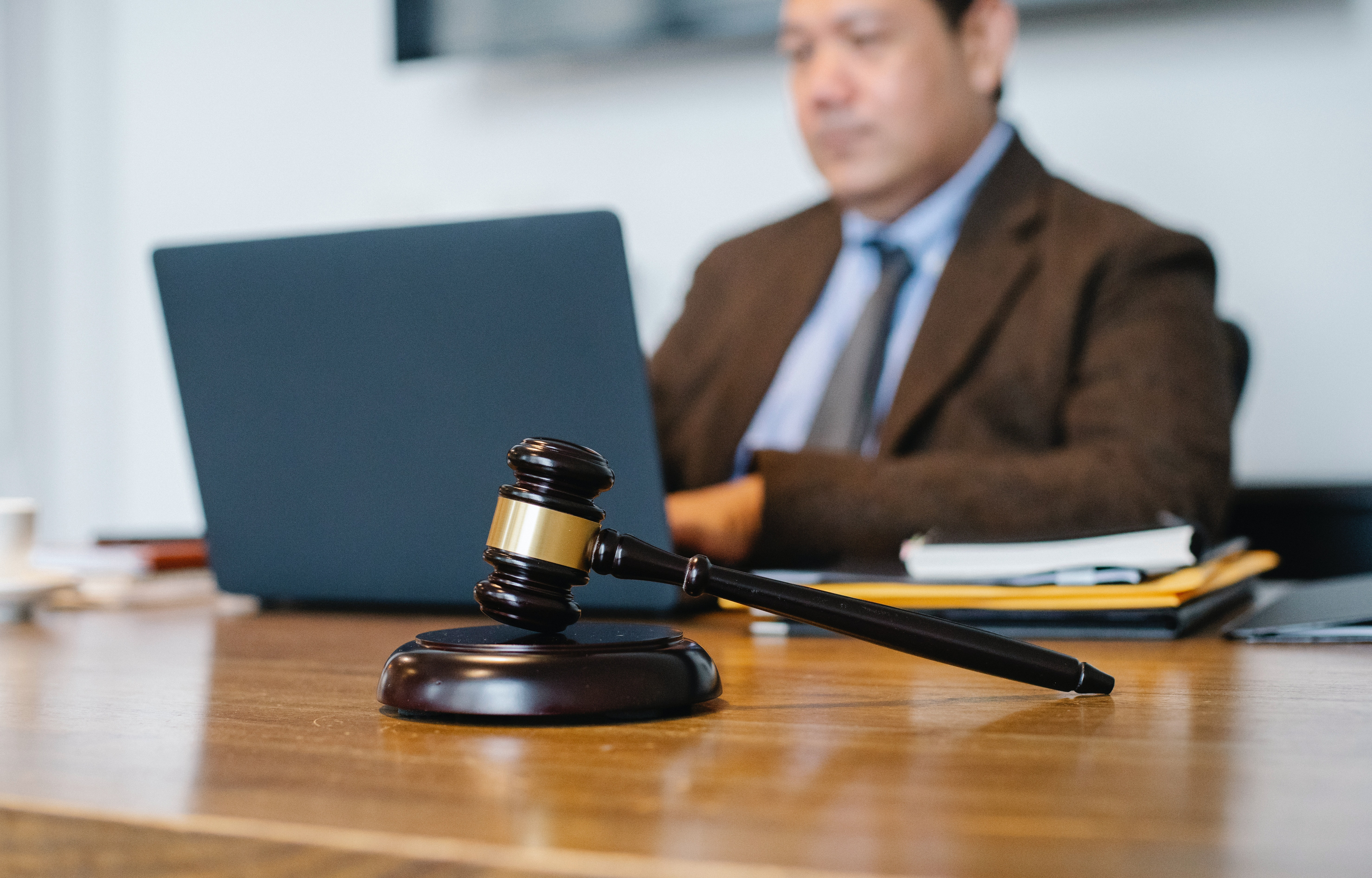 Lawyer Using A Computer