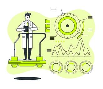 a male data scientist analyzing data