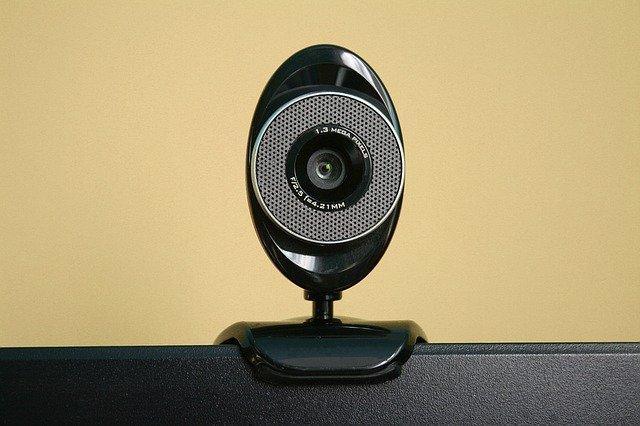 webcam on top of computer screen
